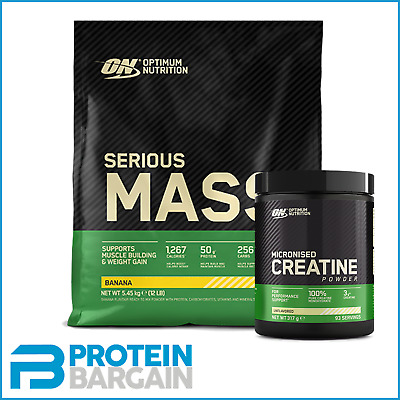 Optimum Nutrition Serious Mass 5.4kg Weight Gainer + ON MICRONISED CREATINE 317G