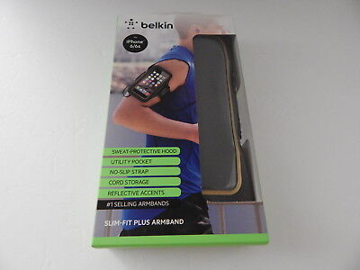 Belkin Slim-Fit Plus Armband for iPhone 6 iPhone 6S Arrow Black/Gold New