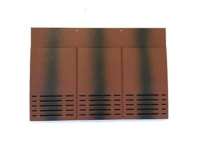 Plain Tile Roof Vent | Old English Dark Red | 10 Colours | Smooth / Granular