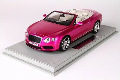 Bentley Continental GT V8 S Convertible Flash Pink, Ltd 20 pcs w/ Case BBR 1/18