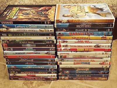 Huge Lot of 34 Kids/Childrens/Family DVD with Cases