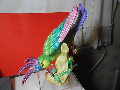 Lynn Chase Vintage Cockatoo Limited Ed Huge Vibrant Colors Magnificent! Look Wow