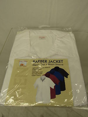 Shaving Factory Barber Jacket, White, Small