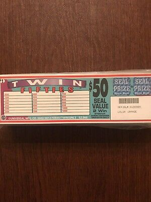 """""""Twin Fifties"""" 3 Window Pull Tab 360 Tickets Payout $298 Free Shipping US Only"""