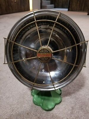 Vintage Electric Space Heater Cast Iron/ security electric mtg Chicago sterling