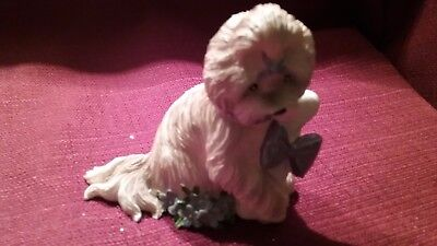 SHIH-TZU treasures of joy  Pretty in Purple Collection Figurine