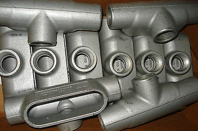 """10 Cooper Crouse - Hinds  T37  1"""" Form 7 Tee Conduit Condulet Outlet Body"""