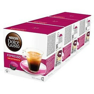 Nescafe Dolce Gusto Espresso Decaf - Pack of 3 Total 48 Capsules