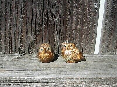 Vintage 1960's Japanese ceramic pair of owls made-in-japan