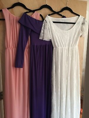 Lot of 3 GORGEOUS maternity photoshoot dresses - never used! Size small