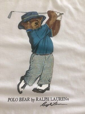 New without tags, polo bear by Ralph Lauren, size medium white T-shirt. Golfer
