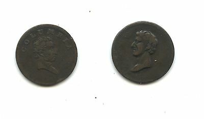 Set of 2 Canada/England Farthing tokens c 1810