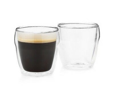Symphony Latte Espresso Coffee Double Dual Wall Thermo Glasses 260ML x  4
