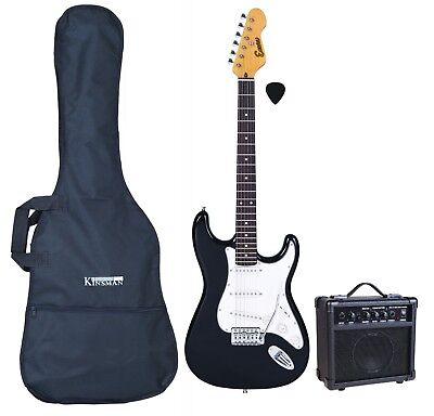 Encore KC3T Black Electric Guitar Bundle Including Amp Lead /& Case RRP 229.00