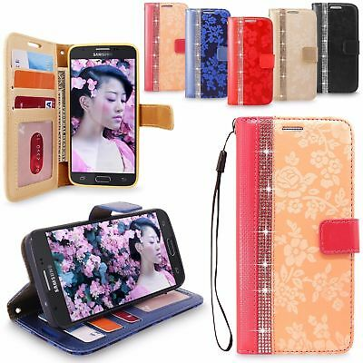 For Samsung Galaxy J7 (2017) PU Leather Wallet Card Holder Flip Stand Case Cover