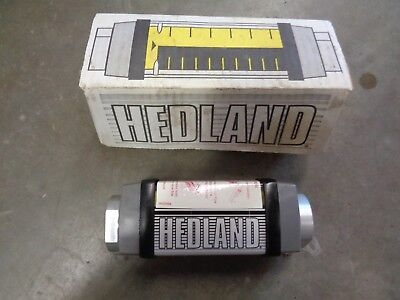 """HEDLAND H605B-005 0.5 to 5 gpm Variable Area Mechanical Flow Meter, 1"""" NEW! #1B"""