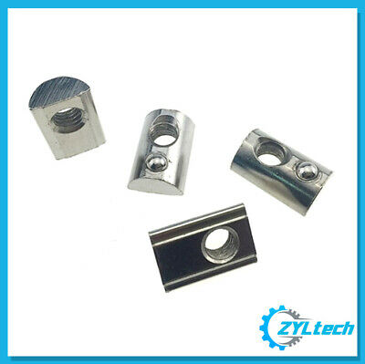 100x ZYLtech Spring Loaded T-Nuts for 2020 Aluminum Extrusion - M4 or M5
