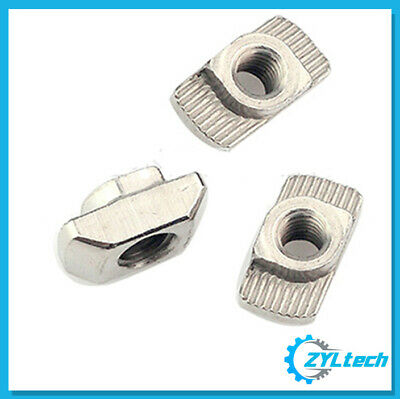 100x ZYLtech Hammer Nuts (T-Slot) - M4 or M5 for 2020 Aluminum Extrusion