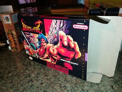 Breath of Fire Box Only, SNES Nintendo Replacement Box/Art Case!!