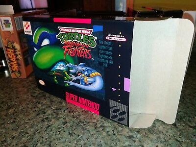 TMNT Tournament Fighters Box Only, SNES Nintendo Replacement Box/Art Case!!