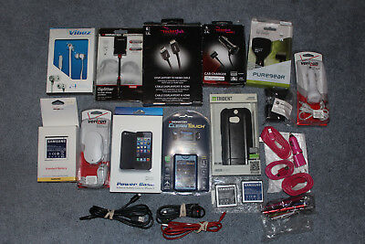 Mixed Lot Cell Phone Accessories Chargers MicroUSB iPhone Battery packs ETC.