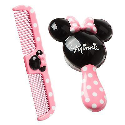 Hair Brush Comb Set Minnie Mouse Kids Toddler Baby Girl Gift Extra Soft NEW