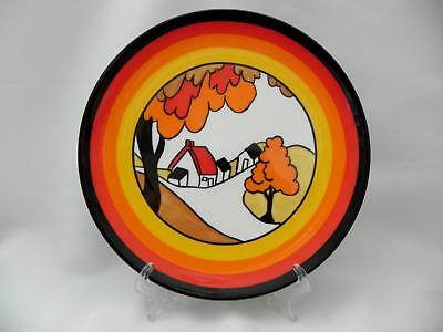 Wedgwood - CLARICE CLIFF - Bizarre Display Plate *HOUSE and BRIDGE -Boxed - Mint