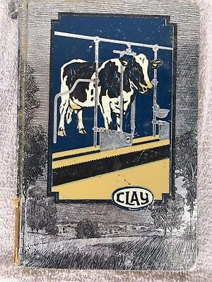 1931 Clay Farm & Barn Equipment Dealers Brochure ~ Hard Cover Book Milking Fence