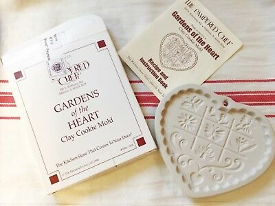 Pampered Chef Gardens Of The Heart Cookie Mold 1996