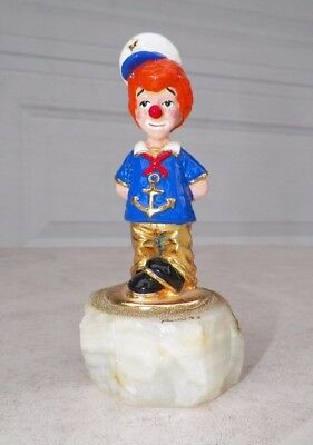"Vintage 1993 Ron Lee Red Head Sailor Boy Clown 5 1/2"" Tall"