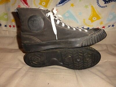 Vintage Converse Black High Tops Made In Usa Size 10 Mens 1941 Big Five