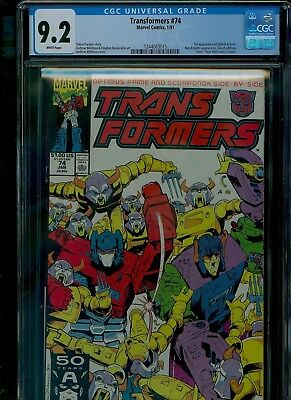 Transformers 74 CGC 9.2 NM- Autobots Decepticons Wildman cover Marvel 1991
