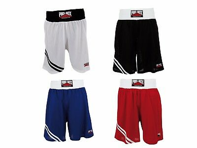 Pro Box Boxing Shorts Adult & Kids Black Blue Red White Mens Boys Girls Womens