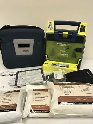 Cardiac Science Powerheart G3 AED Automatic w/ ALL Accessories 9390A-1001