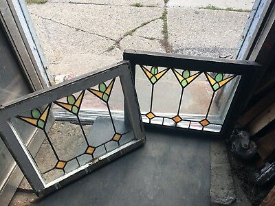 Special Pr Antique Art Deco Tulip Stained Glass Windows