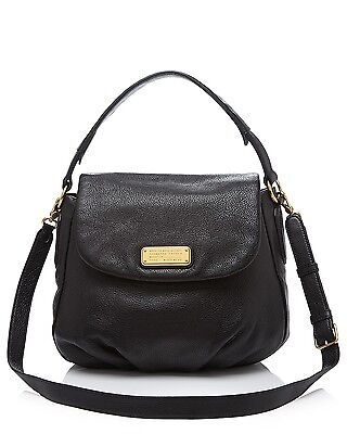 NWT Marc by Marc Jacobs NEW Q Lil Ukita Leather Shoulder Bag BLACK $428 AUTHNTC