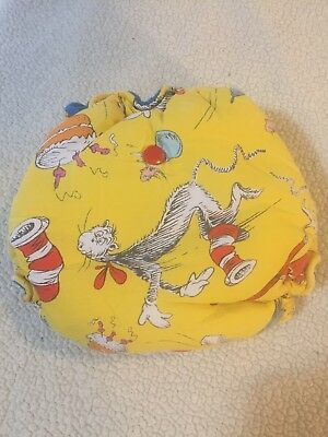 Rockin Robbies Hybrid Fitted Cloth Diaper OS Cat In The Hat Dr Seuss
