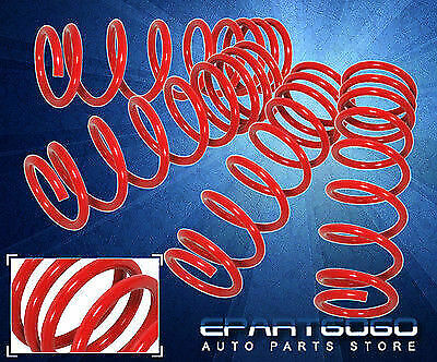 """99-05 Vw Mk4 Golf/Jetta 4Cyl Suspension Lowering Coil Springs 1.8"""" Drop Kit Red"""