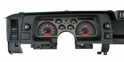 Dakota 90 91 92 Chevy Camaro Analog Dash Gauges Carbon Red VHX-90C-CAM