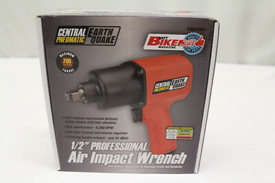 """Central Pneumatic 62627 Earthquake 1/2"""" Professional Air Impact Wrench NEW"""