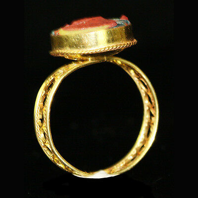 Roman-Egyptian Glass set in modern 15ct gold as a ring y231