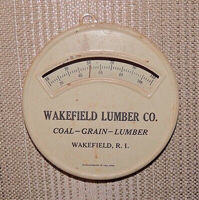 Vintage Advertising Thermometer by Brown & Bigelow, Wakefield (R.I). Lumber Co.