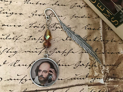 NEW William Shakespeare Quill Pen Mini Bookmark from Between the Pages