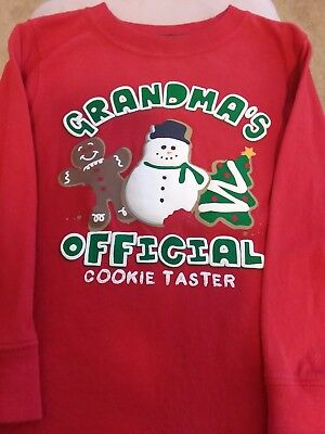 Childrens Christmas shirt size 4T / Grandma's Official Cookie Taster / Jumping B