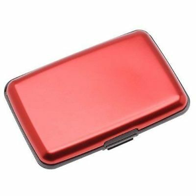 Aluma Wallet As Seen On TV Credit Card Money Holder ID Theft Protection Dura Red