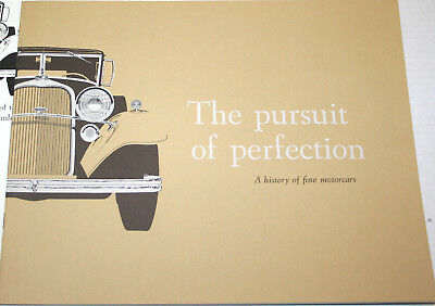 1959 LINCOLN The Pursuit of Perfection, History 16 page ORIGINAL sales Brochure