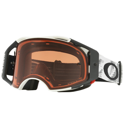 NEW OAKLEY AIRBRAKE MATTE WHITE with PRIZM BRONZE LENS MX Goggles Air Brake