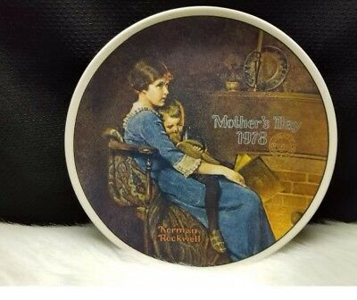 """Norman Rockwell """"Bedtime"""" Collector's Plate Mother's Day 1978 New Still Sealed!"""