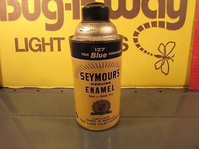 Vintage spray paint Seymour 127 True Blue permanent Enamel unused
