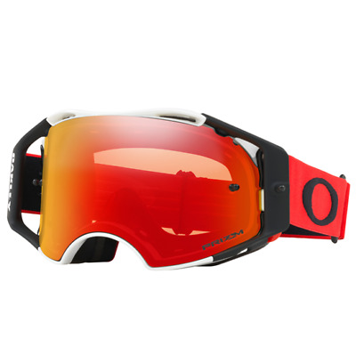 NEW OAKLEY AIRBRAKE RED WHITE with PRIZM TORCH LENS MX Goggles AirBrake Moto